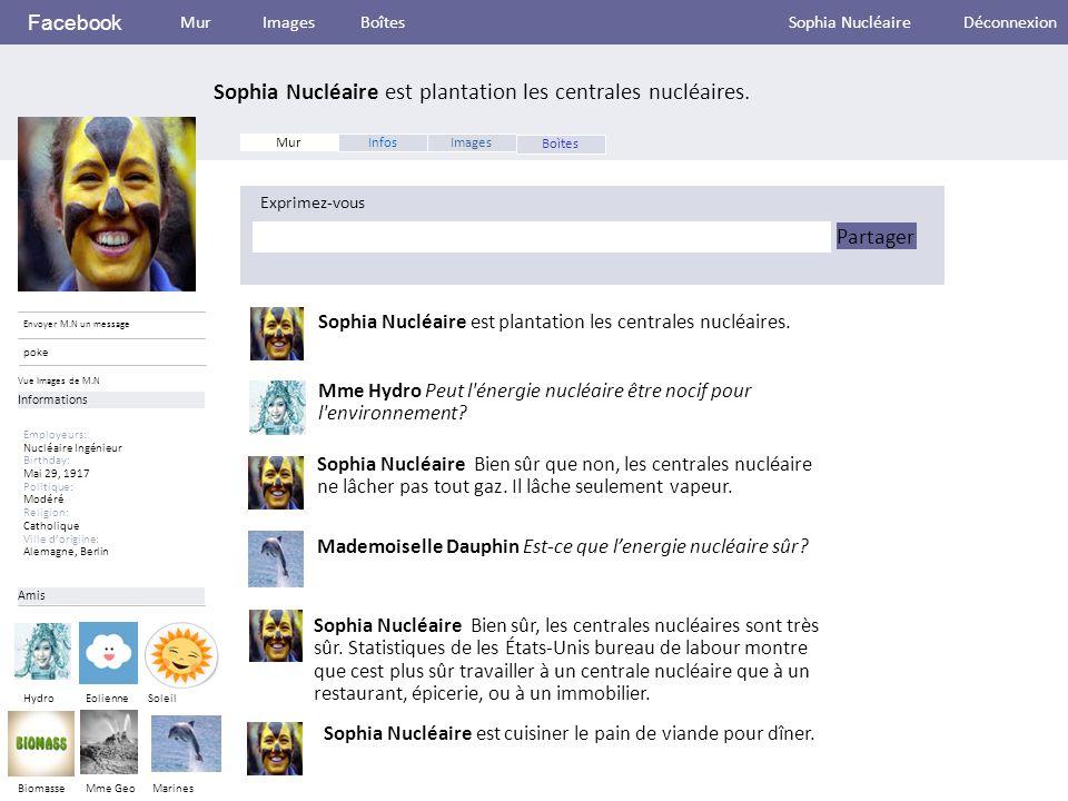 Facebook Sophia Nucléaire est plantation les centrales nucléaires.