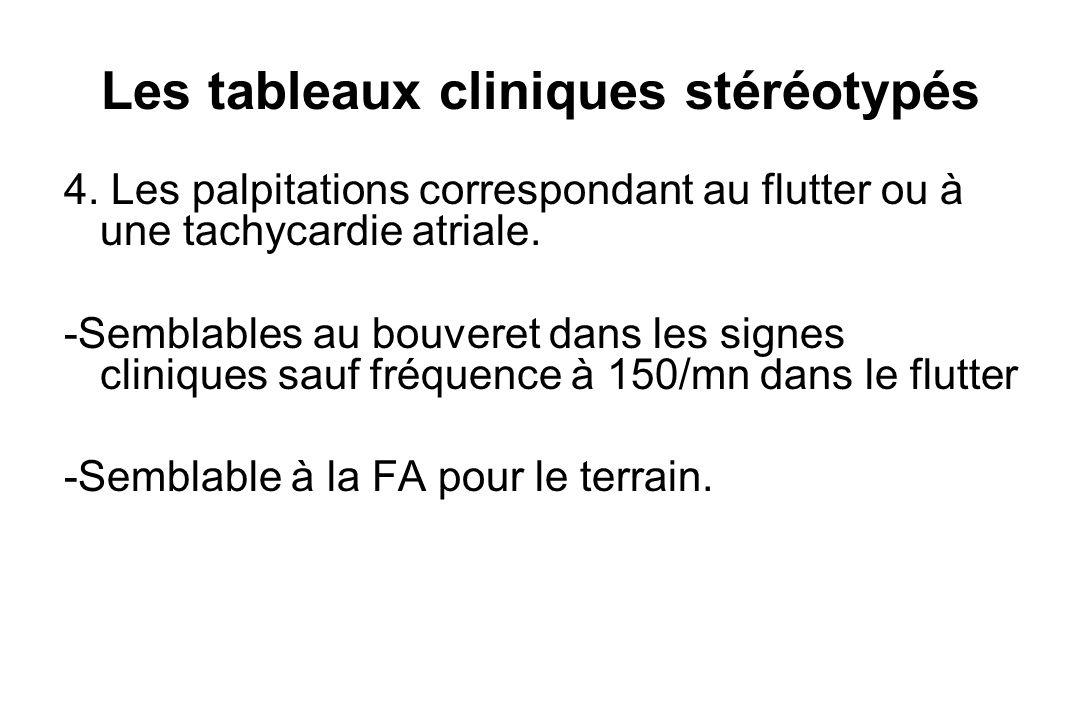 Les tableaux cliniques stéréotypés 4.