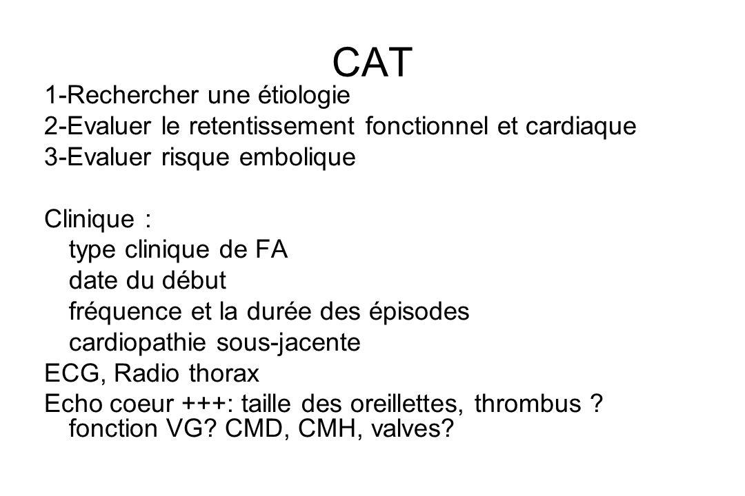 Manifestations cliniques La FA peut être symptomatique ou asymptomatique même chez un même patient.