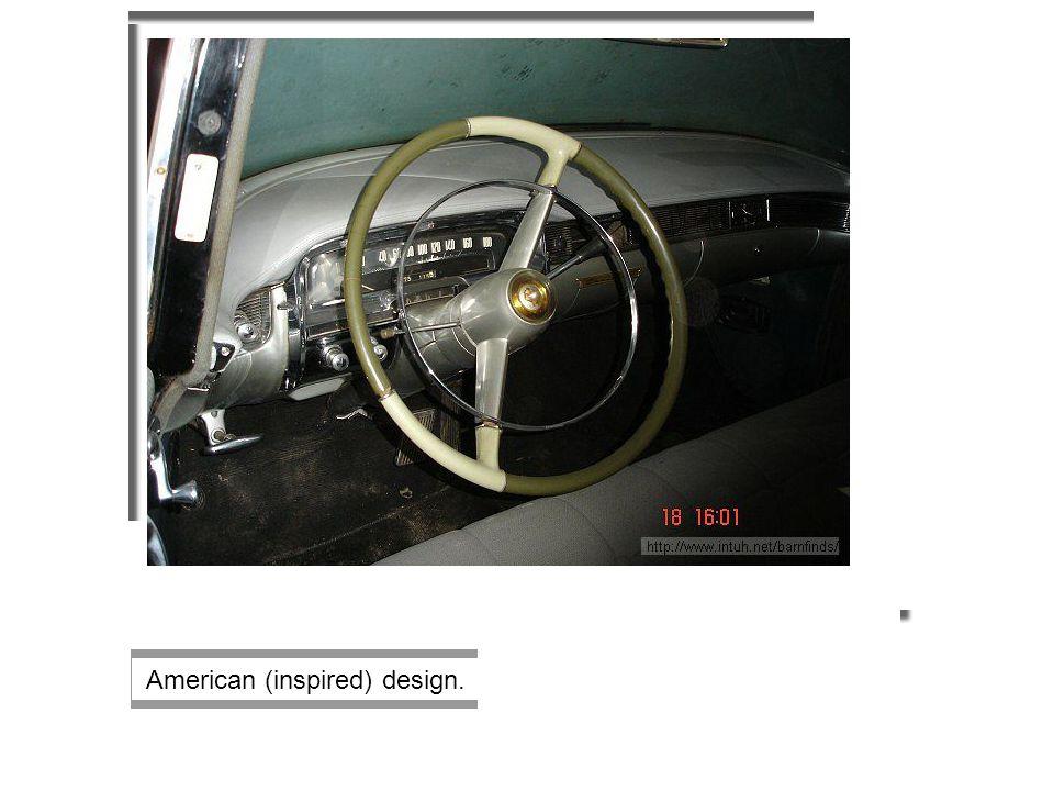 American (inspired) design.