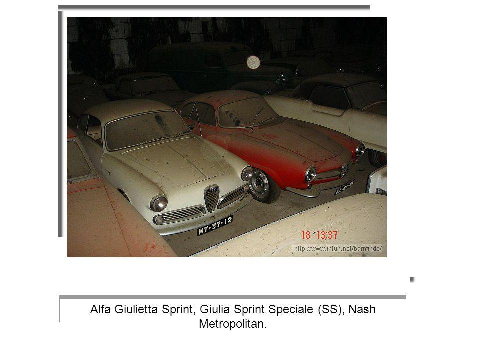 Alfa Giulietta Sprint, Giulia Sprint Speciale (SS), Nash Metropolitan.