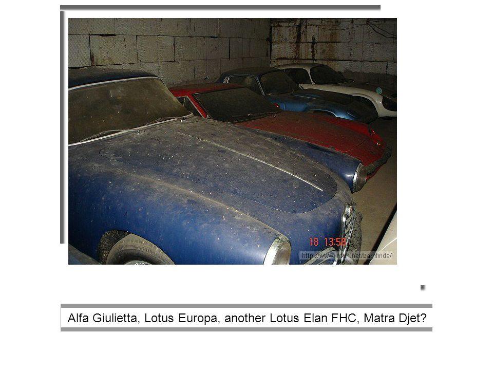 Alfa Giulietta, Lotus Europa, another Lotus Elan FHC, Matra Djet
