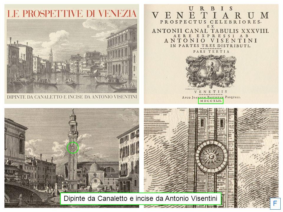 Dipinte da Canaletto e incise da Antonio Visentini F