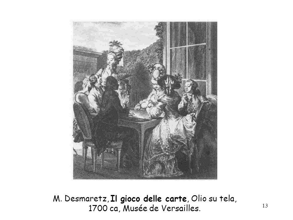 13 M. Desmaretz, Il gioco delle carte, Olio su tela, 1700 ca, Musée de Versailles.