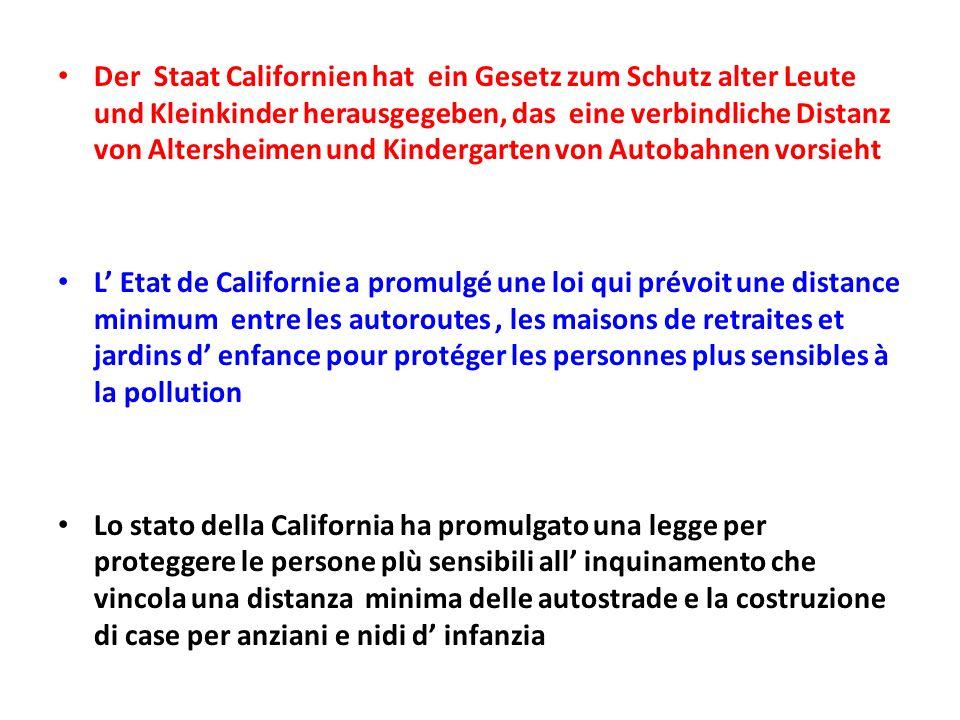 Der Staat Californien hat ein Gesetz zum Schutz alter Leute und Kleinkinder herausgegeben, das eine verbindliche Distanz von Altersheimen und Kinderga