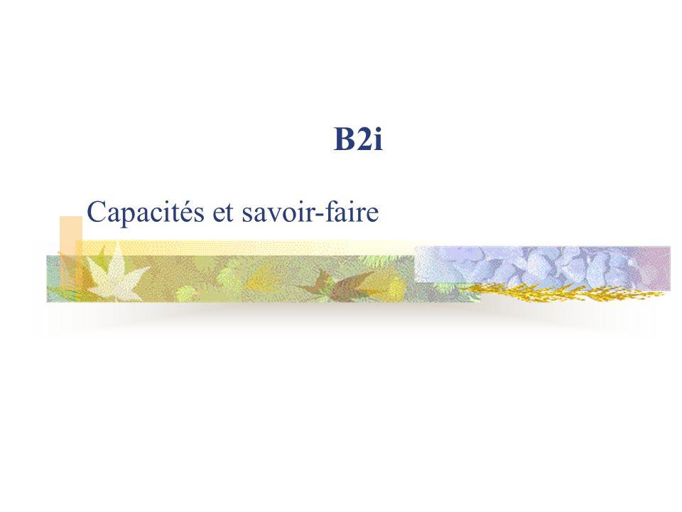 Capacités et savoir-faire B2i