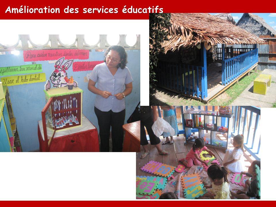 Amélioration des services éducatifs