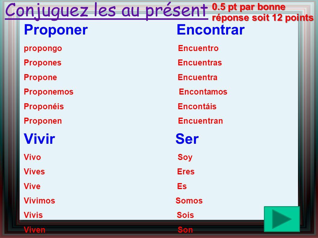Salut : hola /1 à demain : hasta mañana /1 présent/absent : presente/ausente /1 ¿ quíen falta .