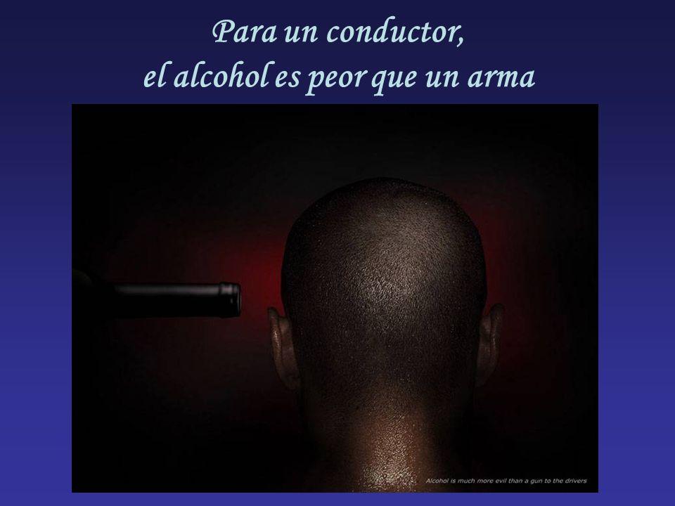 Para un conductor, el alcohol es peor que un arma
