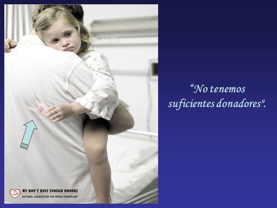 No tenemos suficientes donadores