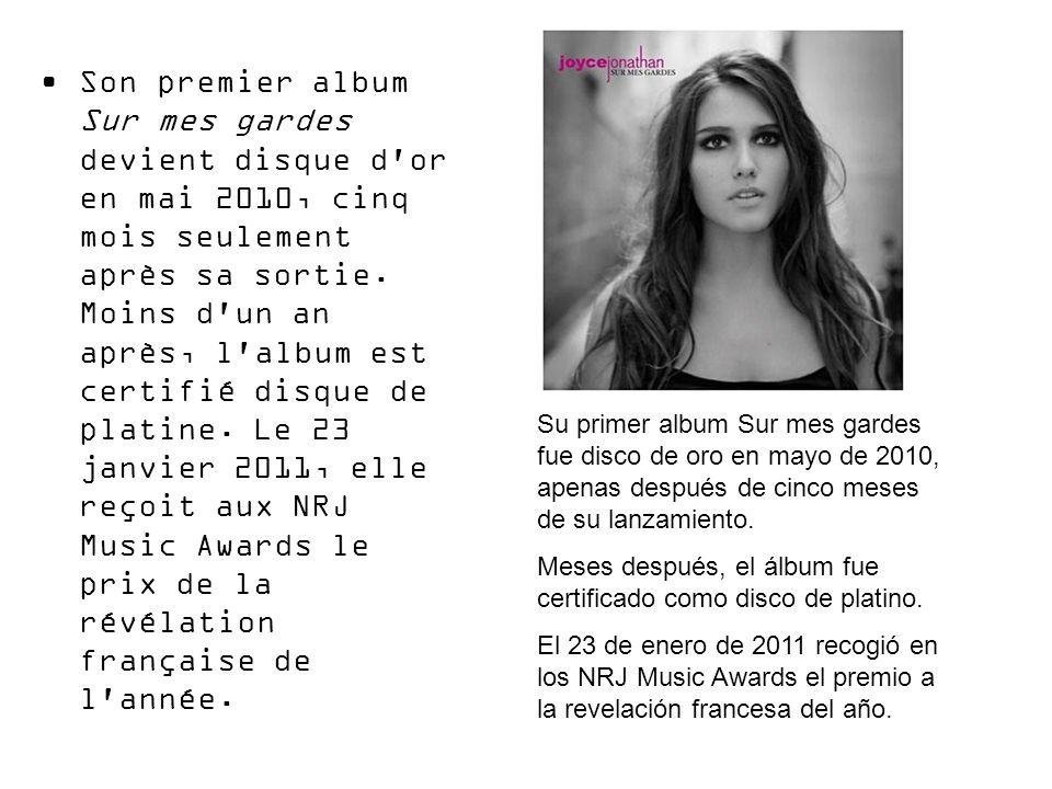 Son premier album Sur mes gardes devient disque d'or en mai 2010, cinq mois seulement après sa sortie. Moins d'un an après, l'album est certifié disqu