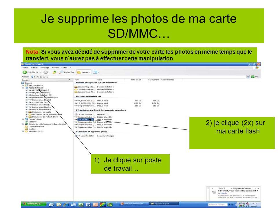 Je vérifie que les photos sont sur mon PC 1) Je clique sur explorateur Windows 2) Je clique sur mes images Je visualise mes photos