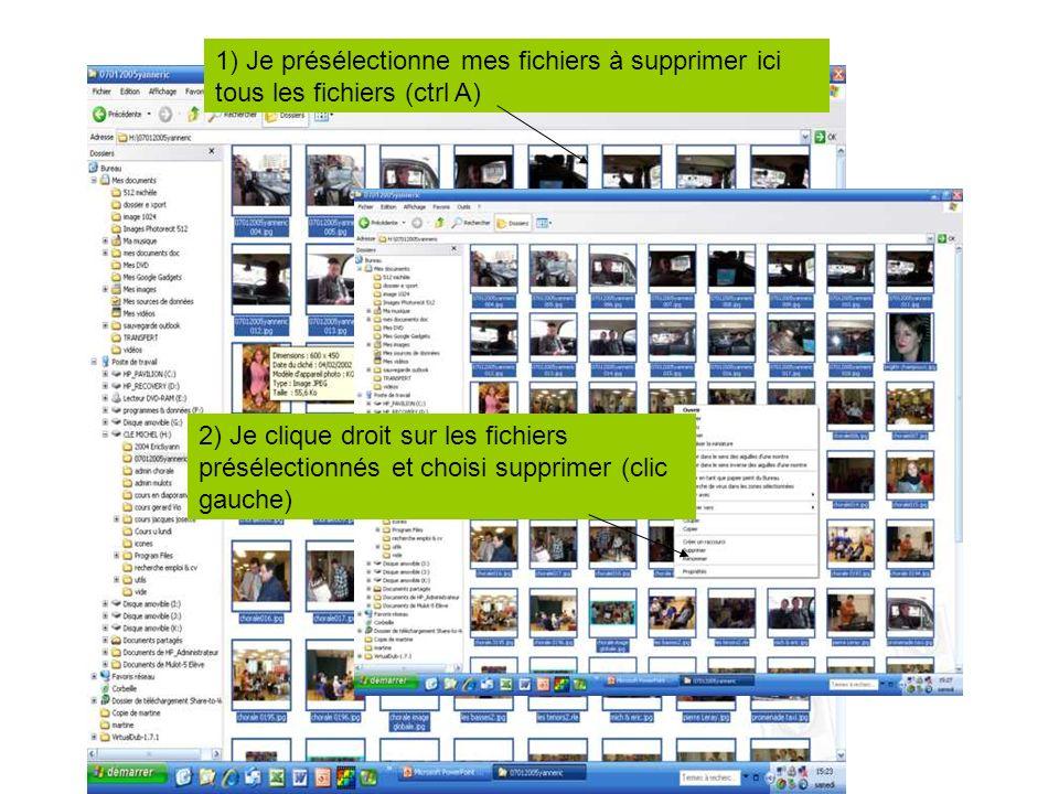 Je supprime les photos de ma carte SD/MMC… Nota: Si vous avez décidé de supprimer de votre carte les photos en même temps que le transfert, vous naure