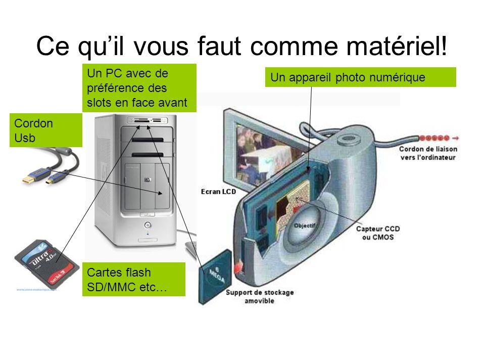 Comment transférer mes images depuis mon appareil numérique Leçon de base Michel Guichon Édité en juin2007 Cliquez sur la souris ou une touche clavier
