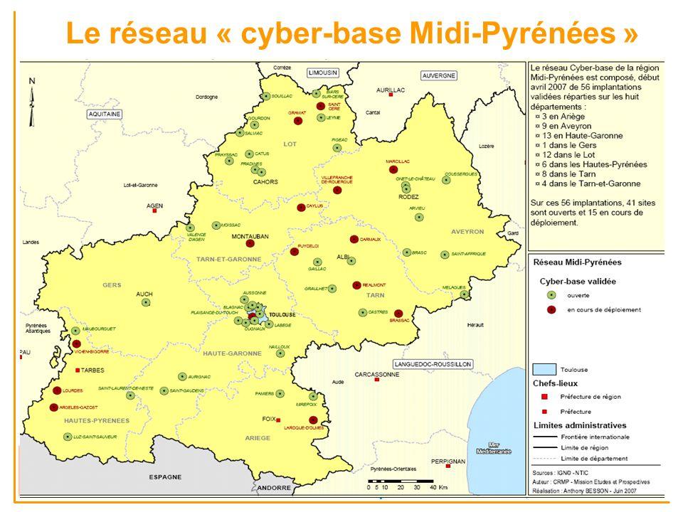 Le réseau « cyber-base Midi-Pyrénées » Accès aux TIC et Service universel en Afrique sub-saharienne - Comparaisons et dynamiques GDRI Netsuds – Campus AUF de Dakar, 26-28 XI 2007