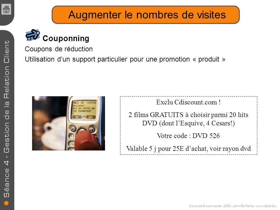 Cours de E-commerce - 2005 - Jennifer Kalka - www.kalka.biz Projets 2005