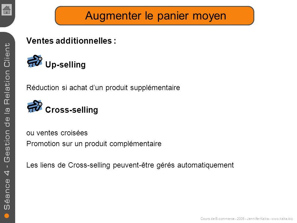 Cours de E-commerce - 2005 - Jennifer Kalka - www.kalka.biz Améliorer la performance technique