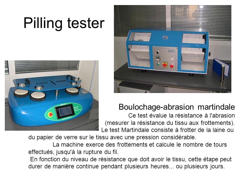 Pilling tester Boulochage-abrasion martindale Ce test évalue la résistance à l'abrasion (mesurer la résistance du tissu aux frottements). Le test Mart