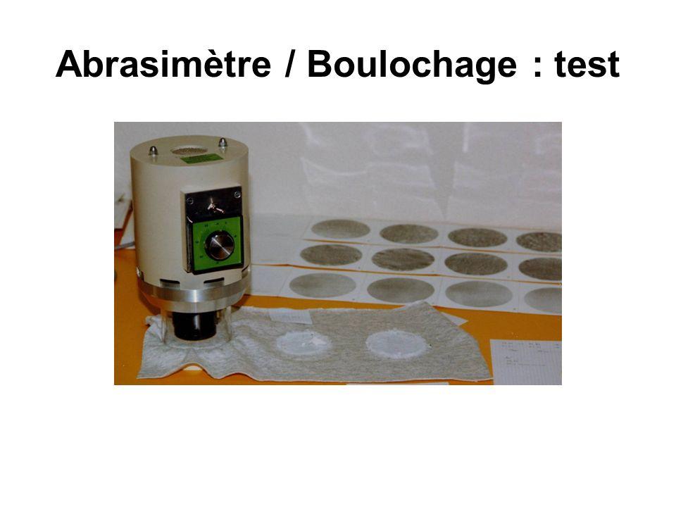 Pilling tester Boulochage-abrasion martindale Ce test évalue la résistance à l abrasion (mesurer la résistance du tissu aux frottements).