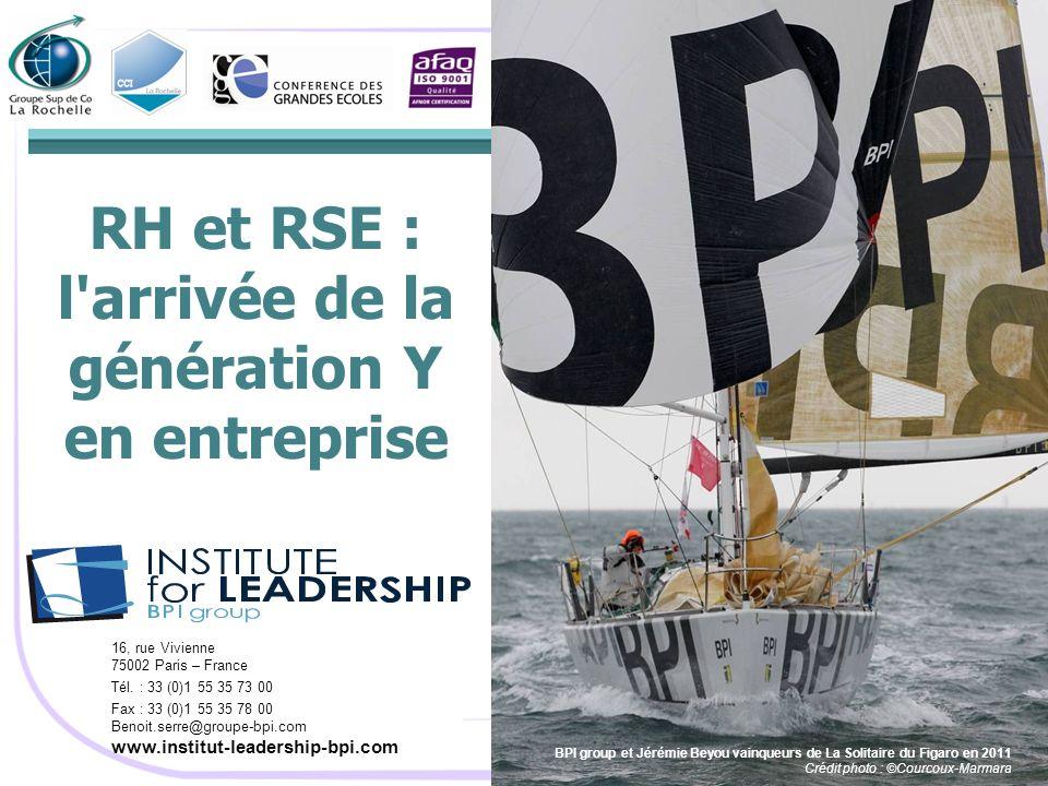 RH et RSE : l'arrivée de la génération Y en entreprise BPI group et Jérémie Beyou vainqueurs de La Solitaire du Figaro en 2011 Crédit photo : ©Courcou