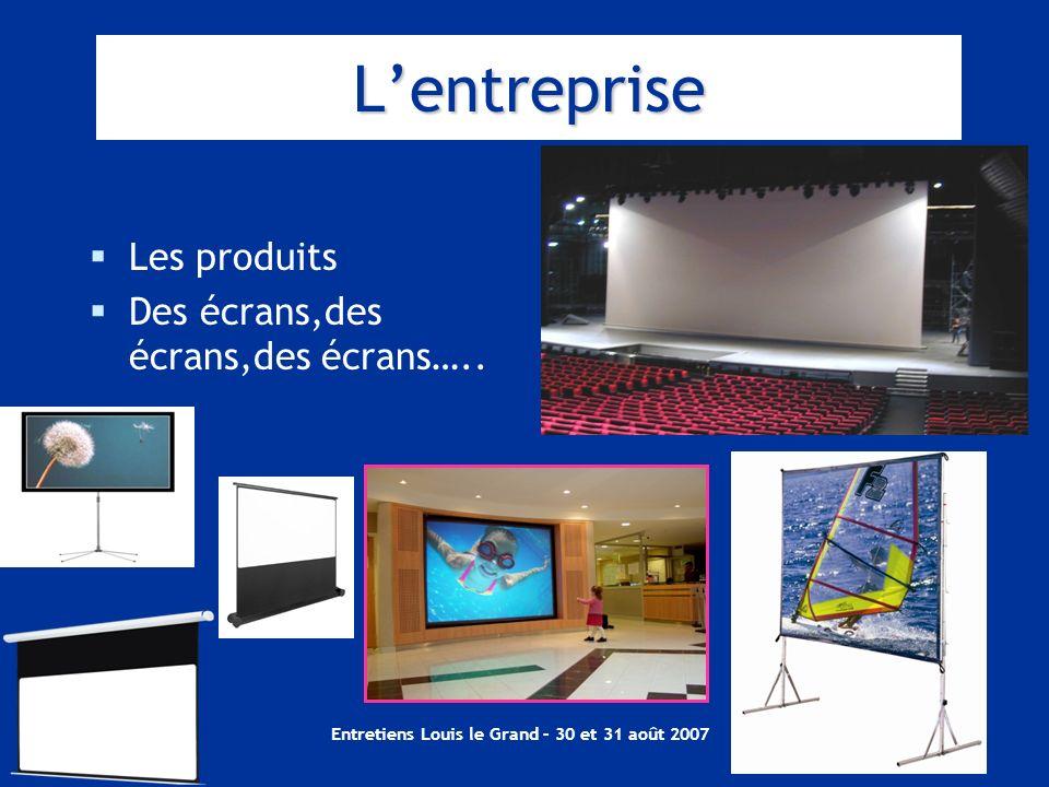 Entretiens Louis le Grand – 30 et 31 août 2007 Lentreprise Les produits Des écrans,des écrans,des écrans…..