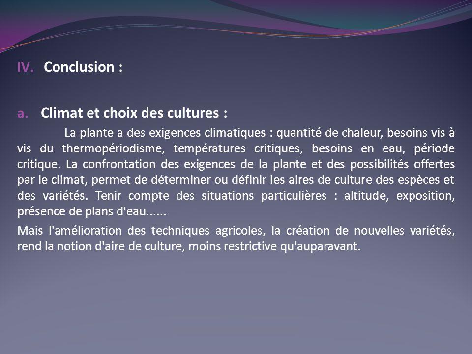 IV.Conclusion : a.