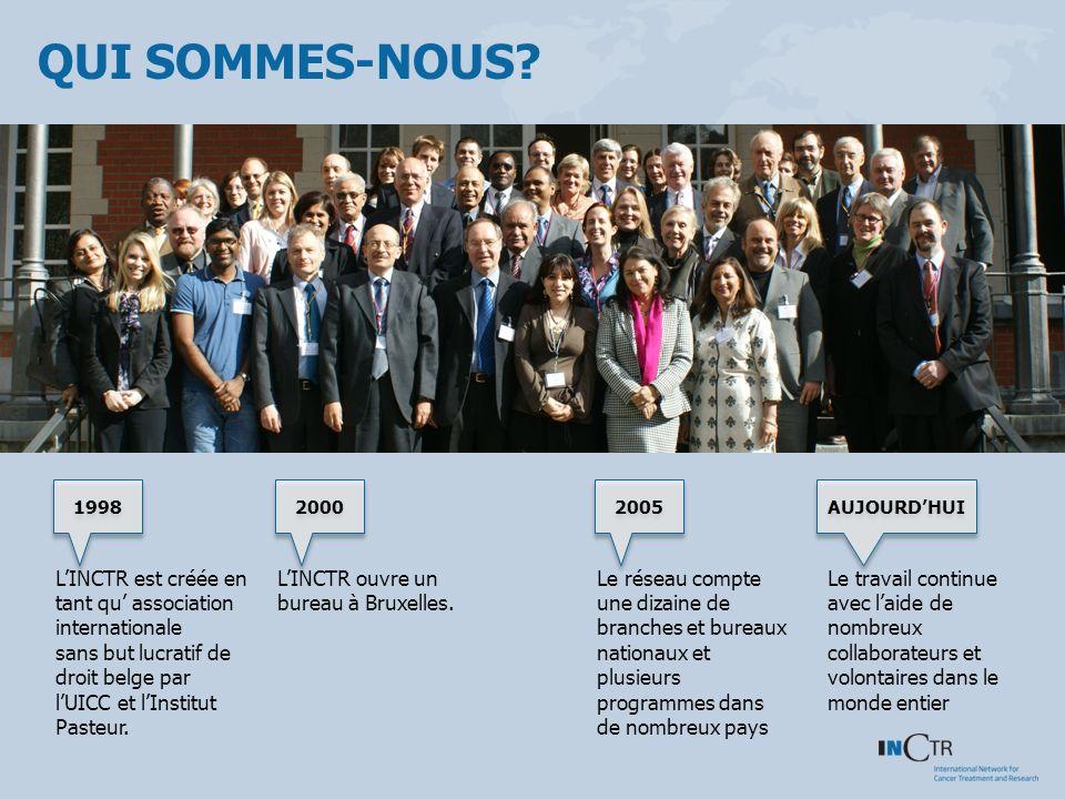 QUI SOMMES-NOUS? LINCTR est créée en tant qu association internationale sans but lucratif de droit belge par lUICC et lInstitut Pasteur. LINCTR ouvre