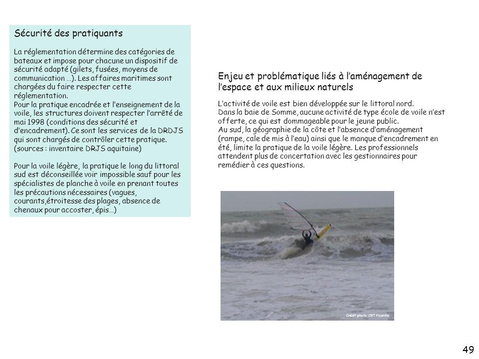 Sécurité des pratiquants La réglementation détermine des catégories de bateaux et impose pour chacune un dispositif de sécurité adapté (gilets, fusées