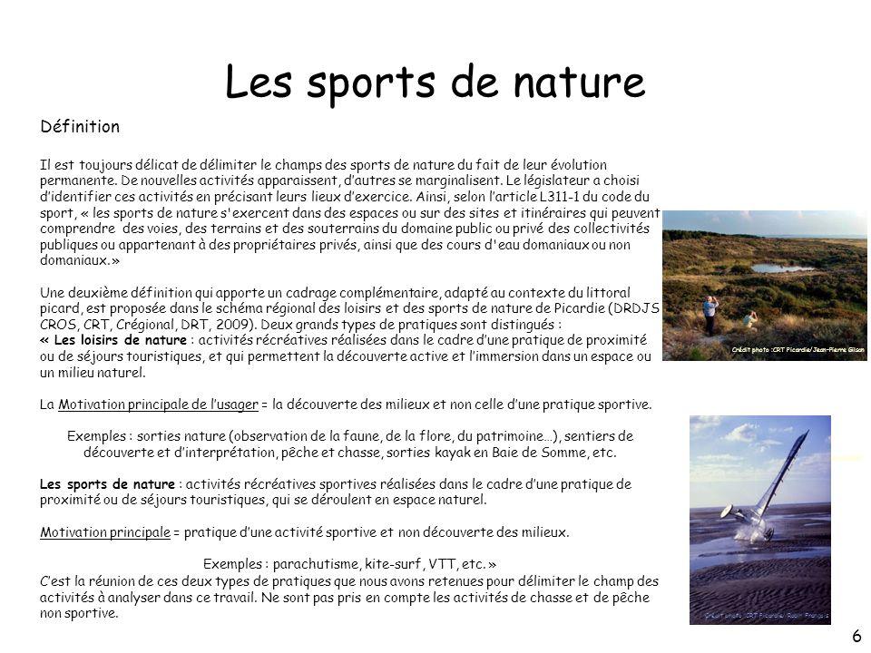 Les sports de nature Définition Il est toujours délicat de délimiter le champs des sports de nature du fait de leur évolution permanente. De nouvelles