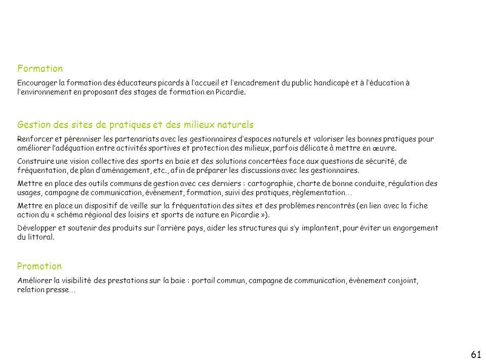 Formation Encourager la formation des é ducateurs picards à l accueil et l encadrement du public handicap é et à l é ducation à l environnement en pro