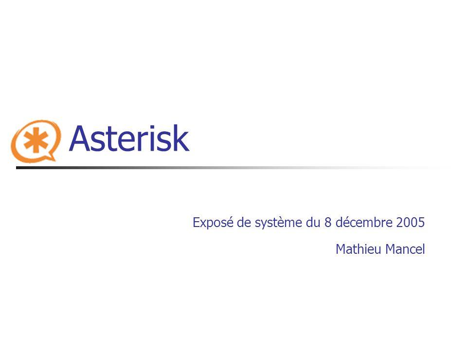 Asterisk Exposé de système du 8 décembre 2005 Mathieu Mancel