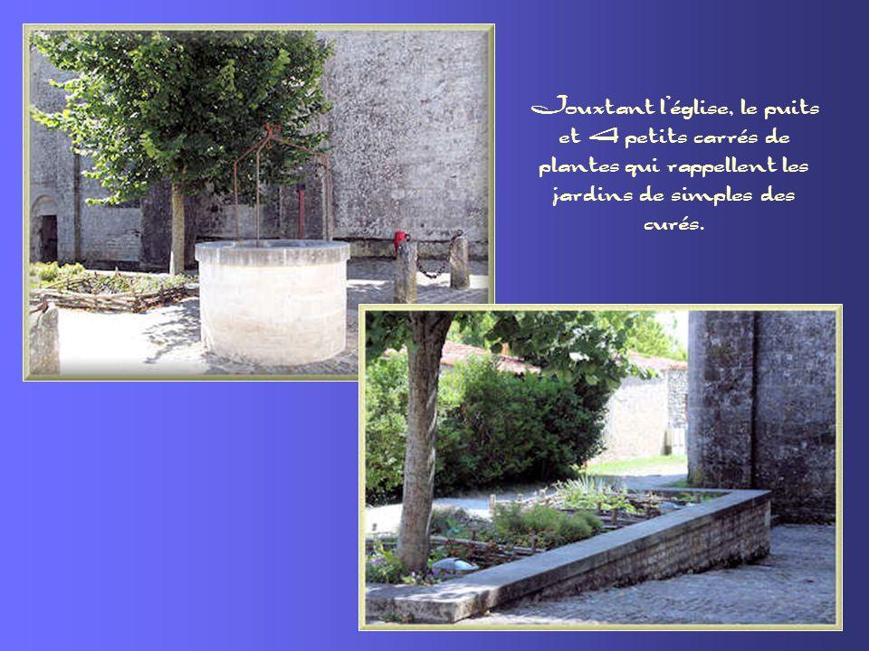 Les tombes mérovingiennes disséminées derrière léglise.