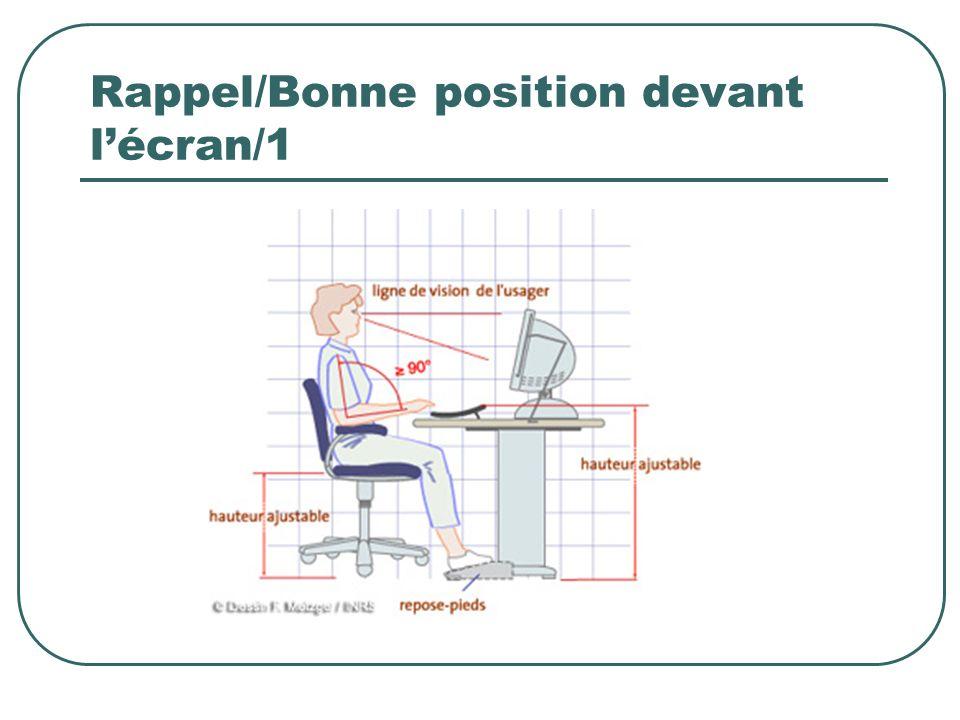 Rappel/Bonne position devant lécran/1