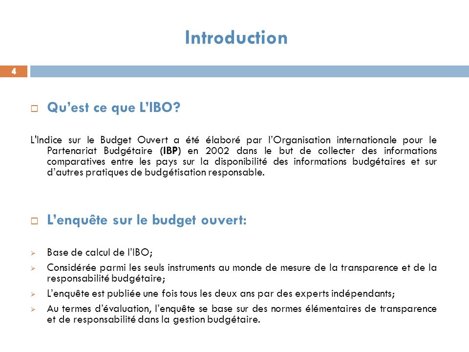 4 4 Introduction 4 Quest ce que LIBO.