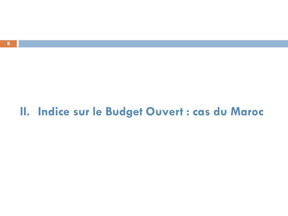 9 Résultats du Maroc dans LIBO Résultats de LIBO entre 2006 et 2012: Entre 2010-2012 : le Maroc a enregistré une hausse de 10 points, en passant de la note 28/100 à 38/100.