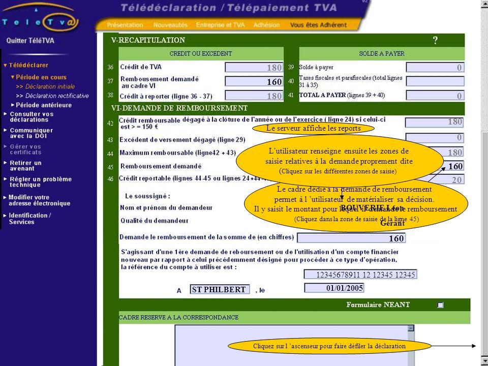 180 0 0 160 180 0 180 20 Le cadre dédié à la demande de remboursement permet à l utilisateur de matérialiser sa décision. Il y saisit le montant pour