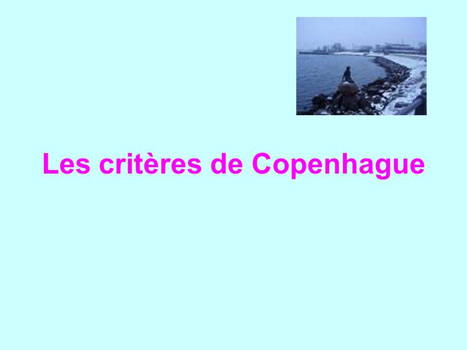 Les critères de Copenhague