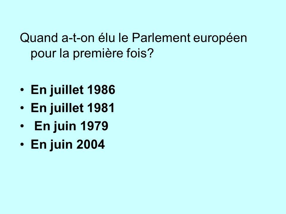 Quand a-t-on élu le Parlement européen pour la première fois.