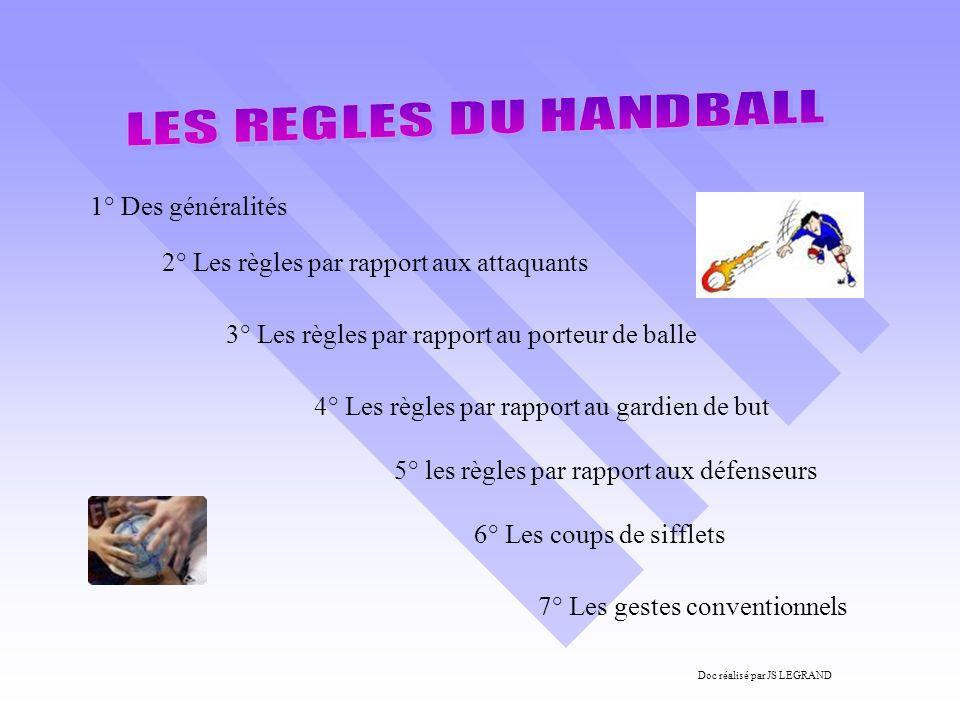 1° Des généralités 2° Les règles par rapport aux attaquants 3° Les règles par rapport au porteur de balle 4° Les règles par rapport au gardien de but