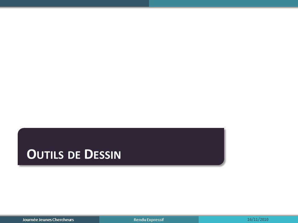 Rendu Expressif Outils de Dessin Modèles artistiques Outils intuitifs Conclusion 16/11/2010 Journée Jeunes Chercheurs 2
