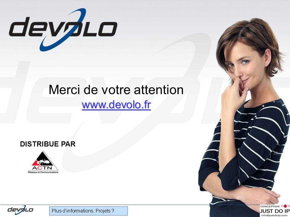 20 Plus dinformations, Projets ? Merci de votre attention www.devolo.fr DISTRIBUE PAR