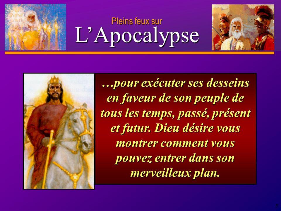 D anie l Pleins feux sur 16 L Apocalypse annonce un message d espoir et d encouragement, tout en traitant des dures réalités de la persécution, de la mort et de l affliction.