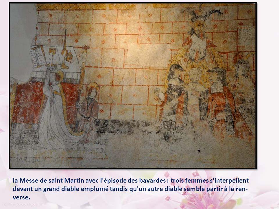 Ces peintures murales du XVIème, fort bien conservées, vous attendent depuis cinq siècles… Elles ont quelque chose d émouvant.