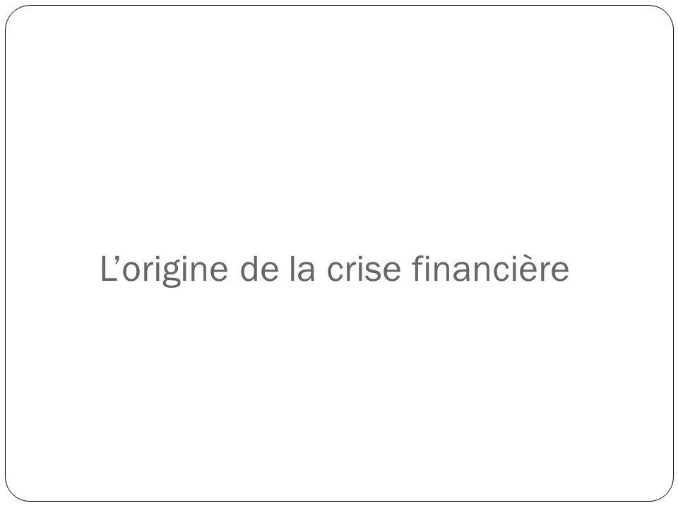 Lorigine de la crise financière