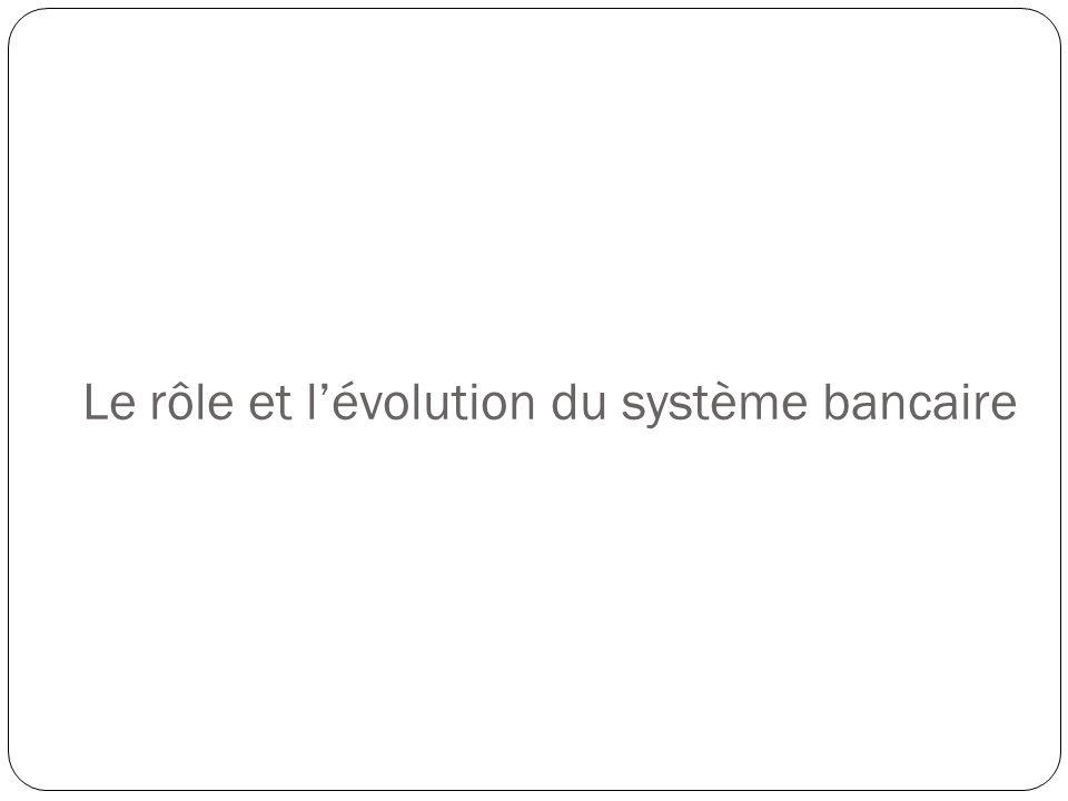 Le rôle et lévolution du système bancaire
