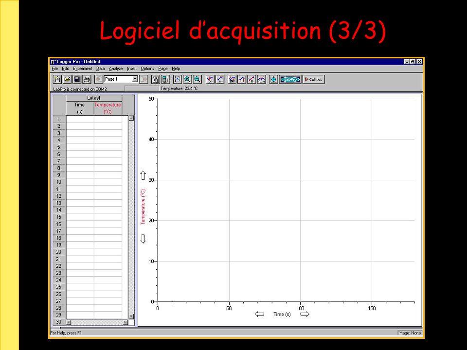 Logiciel dacquisition (3/3)