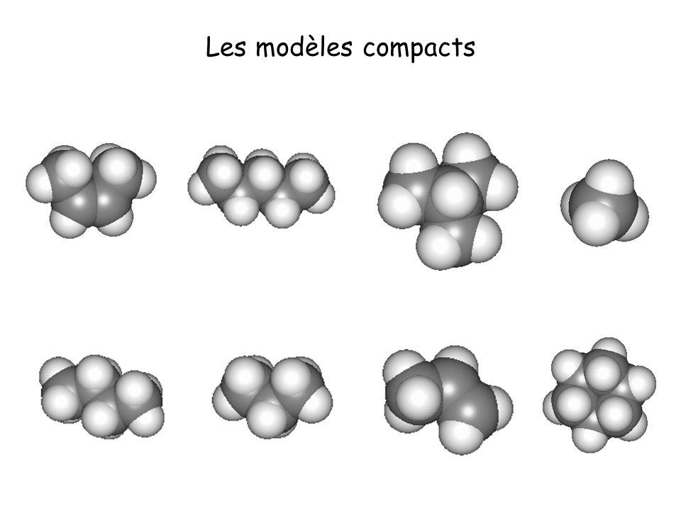 Les modèles éclatés Quelles sont les chaînes linéaires, ramifiées, cycliques .