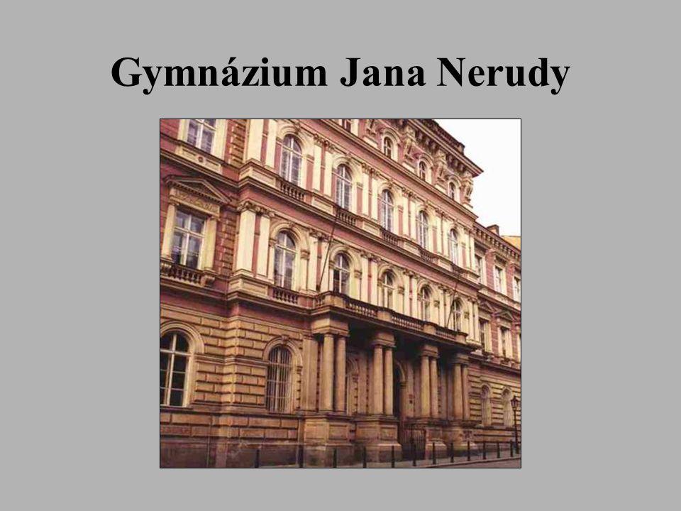 Caractéristique de Gymnázium Jana Nerudy Les classes scientifiques, littéraires et la section bilingue sont installées dans le bâtiment du lycée à Malá Strana à Prague.