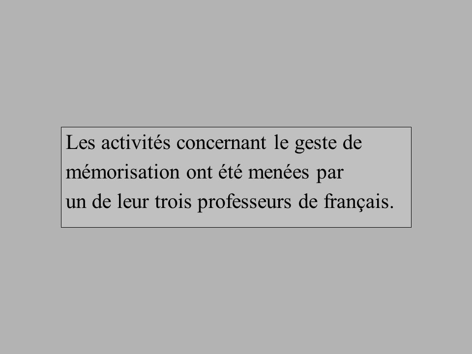 Commentaire du professeur Jean confirme que son évocation finale du texte est une évocation qui utilise le code écrit et quelle est visuelle.