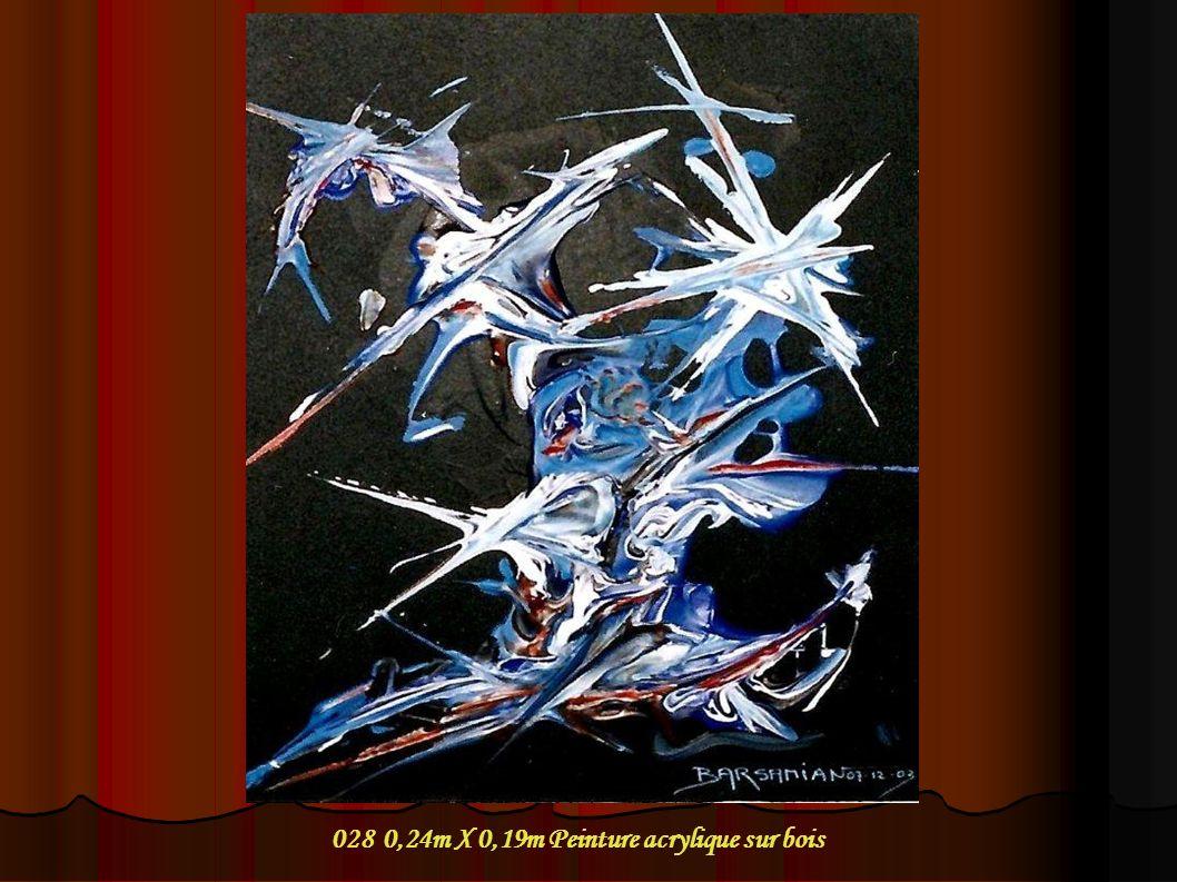 028 0,24m X 0,19m Peinture acrylique sur bois